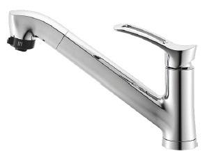 在庫有り SANEI シングルレバースプレー混合水栓 K87120JV-13 お金を節約 一般地仕様 送料無料/新品 普通吐水 キッチン用 ワンホール 三栄水栓