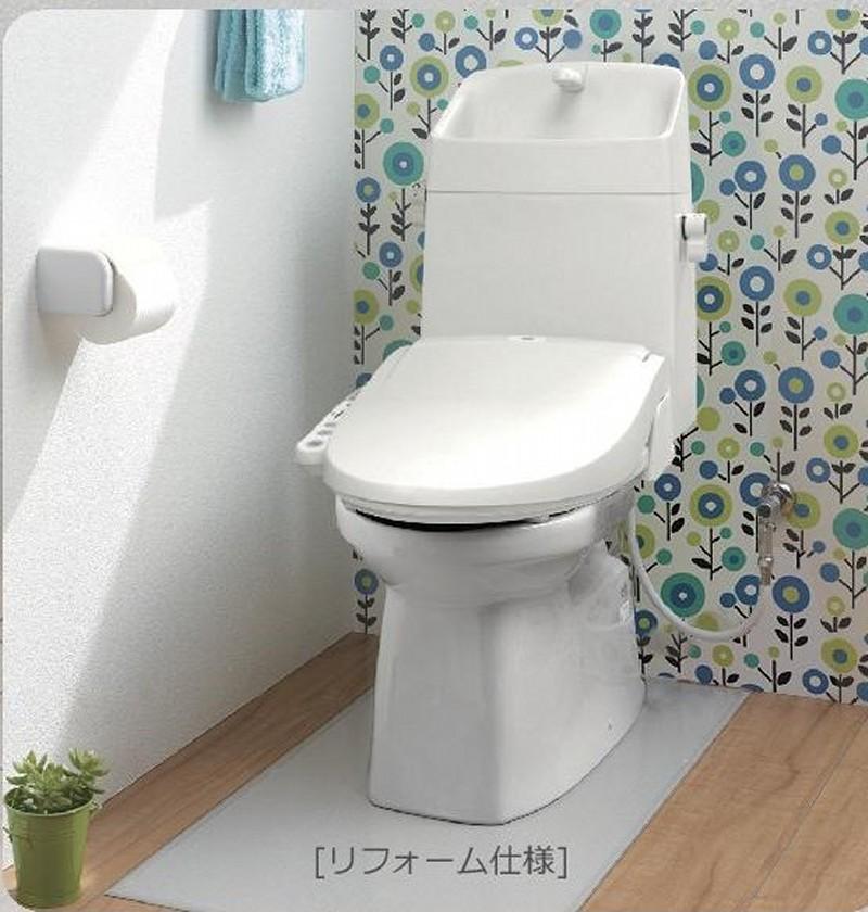 トイレ 便器 ジャニス BM 床排水リモデル305mm~540mm  便器+タンク+ウォシュレットセット 手洗付 送料無料 沖縄、北海道、離島はご注文不可