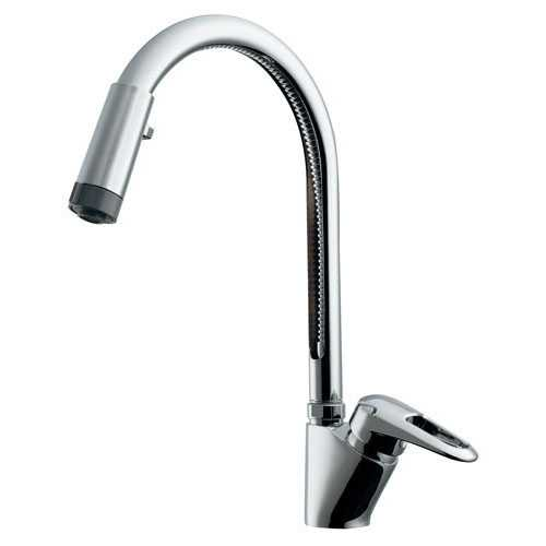 キッチン用 シングルレバー混合水栓 キッチン蛇口 混合栓 1ホール Y117-120 送料無料 台数限定 即日出荷可能