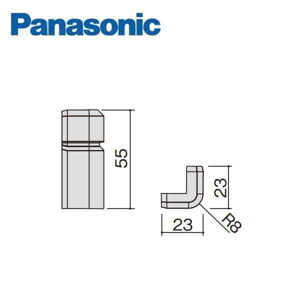 パナソニック コーナーキャップ出隅 幅木9型用 出荷 正規販売店 10個入 QPE119ADY Panasonic