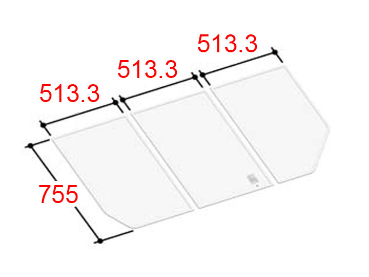 LIXIL INAX 風呂ふた 3枚組み 組フタ[YFK-1576C(3)]
