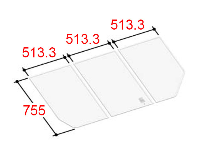 LIXIL INAX 風呂ふた 3枚組み 組フタ[YFK-1576C(5)]