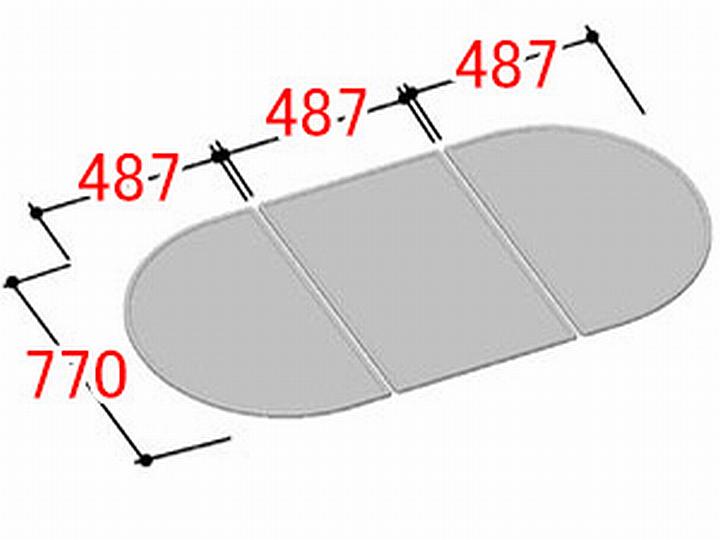 リクシル INAX 風呂ふた 3枚組み 組フタ[YFK-1580C(3)]