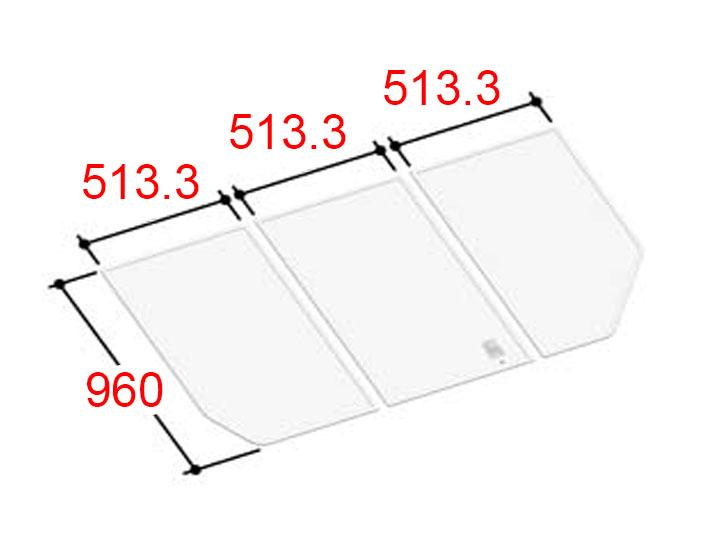 LIXIL INAX 風呂ふた 3枚組み 組フタ[YFK-1596C(3)]