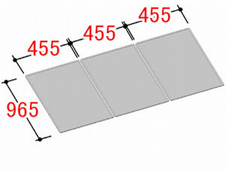 【地域により別途送料有】リクシル INAX 風呂ふた 3枚組み 組フタ[YFK-1410C(3)]
