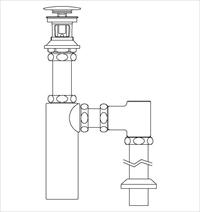 LIXIL(INAX) LF-708SAC 床排水ボトルトラップ 排水金具(呼び径32mm)