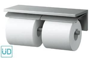 TOTO YH700AD 棚付二連紙巻器  300×120×88  アルミ製 ※ ペーパー取り付けのため、商品の左右に130mm以上の空間が必要です