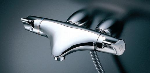 【送料無料】TOTO TMNW40EG1 サーモスタットシャワー金具 壁付きタイプ レバーハンドル ハンガー角度調節可能 メタル 洗い場専用 ストレート脚 心々90mm 逆止弁 エアインクリックめっき