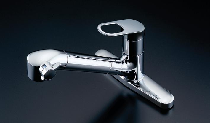 TOTO TKGG39E 浄水器兼用混合栓 台付きタイプ エコシングル 浄水・整流・シャワー メタル φ25×2 心々203mm 逆止弁