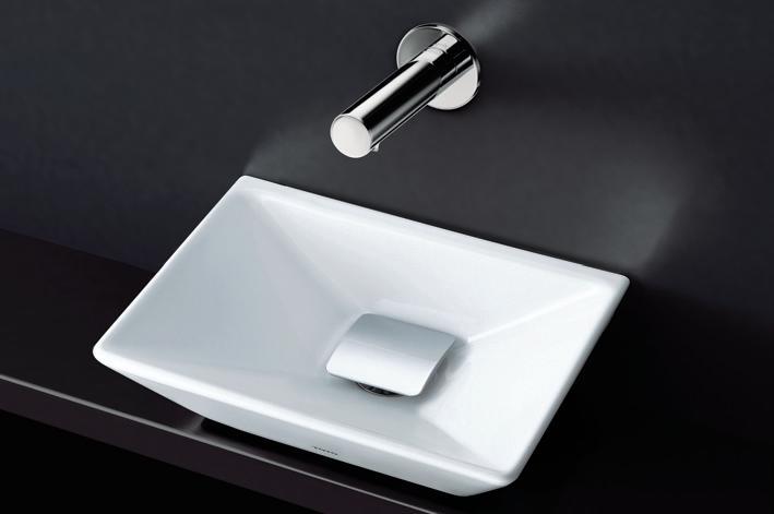 TOTO L711#NW1 角形手洗器(小形)+TEN13A 自動水栓(単水栓)+HR711 取付金具+TL594BP2R 壁排水金具(Pトラップ)のセット
