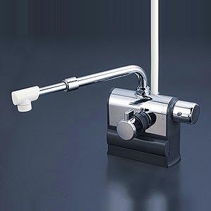 【送料無料】KVK KF3008RSJ デッキ型サーモスタット式シャワー 伸縮自在パイプ付(220mm-350mm) 右ハンドル仕様