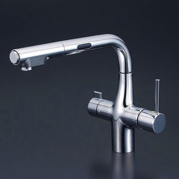 【送料無料】KVK KM6131EC 浄水器付シングルレバー式シャワー付混合栓 [センサー付] [水栓本体のみ]