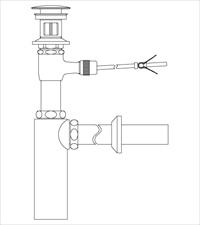 LIXIL INAX 直送商品 LF-711PAC 壁排水ボトルトラップ ポップアップ式排水金具 呼び径32mm 『4年保証』 排水口カバー付 引き棒無し