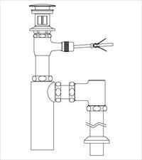 LIXIL(INAX) LF-701SAC 床排水ボトルトラップ(排水口カバー付)(引き棒無し) ポップアップ式排水金具(呼び径32mm)