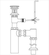 【地域により別途送料有】LIXIL(INAX) LF-706SAC 床排水ボトルトラップ(排水口カバー付) ポップアップ式排水金具(呼び径32mm)