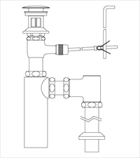 LIXIL(INAX) LF-710SAC 床排水ボトルトラップ(排水口カバー付) ポップアップ式排水金具(呼び径32mm)