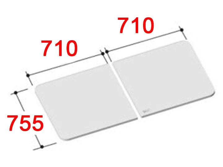 送料無料 LIXIL 風呂ふた 組フタ[YFK-1476B(4)-D]
