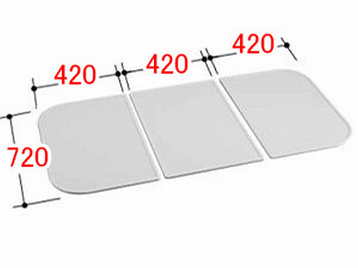 LIXIL INAX 風呂ふた 3枚組み 組フタ[YFK-1375C(2)]