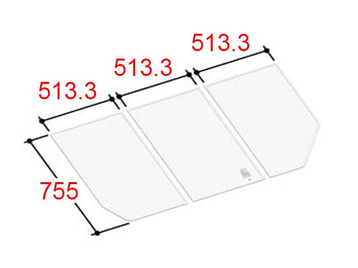 リクシル INAX 風呂ふた 3枚組み 組フタ[YFK-1576C(5)]