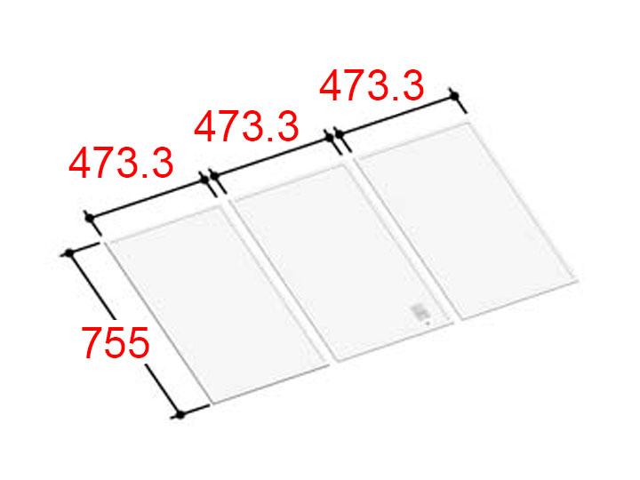 リクシル INAX 風呂ふた 3枚組み 組フタ[YFK-1476C(3)]
