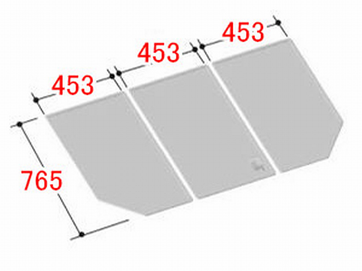 リクシル INAX 風呂ふた 3枚組み 組フタ[YFK-1477C(1)]