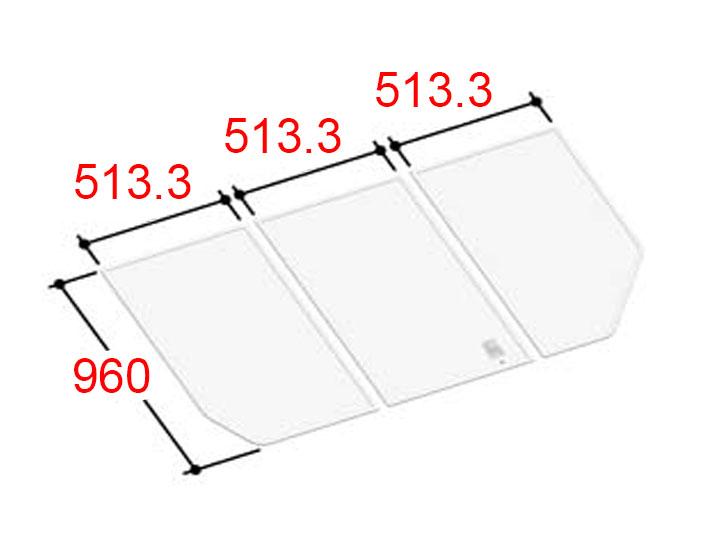 LIXIL INAX 風呂ふた 3枚組み 組フタ[YFK-1596C(1)]