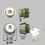 TOSTEM(LIXIL) ドア錠セット(MIWA JNシリンダー)内筒のみ お使いの鍵の形状・差込み口の向きと合っていることを確認してください。商品コード : DCZZ1028 色 : シルバー 内容物 : 本体×2、キー×5