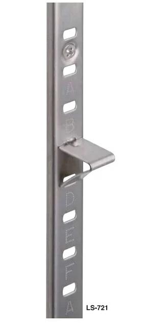 【送料無料】ブルズ bulls (サヌキ) LS-721PAC 棚柱シンプルパック10セット パック内容(棚柱4本 棚受24個 ビス44本)×10セット ステンレス 収納棚 整理棚 細身なので目立たない!建築関係の方にお勧め