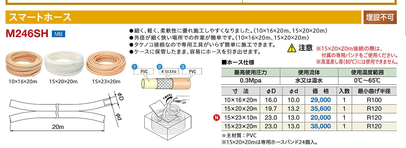 ミヤコ スマートホース M246SH 15×20×20M