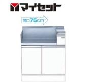 【メーカー直送にて送料無料】マイセット MYSET M4-75GT(左) 75X60X89cm 【深型】 コンロ調理台