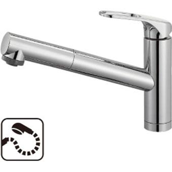 三栄水栓 SANEI  シングルワンホールスプレー混合栓(省施工ナット付) 品番:K87501JK-U 呼び:13 商品番号:K87501JK-U-13