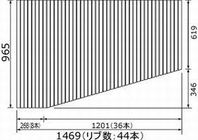 パナソニック 風呂ふた RLFK76MF1KKLC 1469×965mm (リブ数:44本) L勝手【受注生産約1か月】
