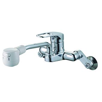 SANEI シングル切替シャワー混合栓 K27CM-13 キッチン用【SS0921】