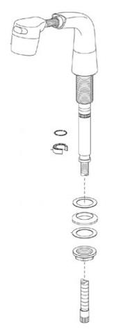 LIXIL INAX 洗面化粧台水栓シャワーヘッド、ホース A-3453/N88