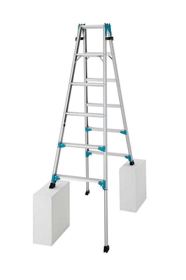 【メーカー直送にて送料無料(北海道は+3000円)】長谷川工業 RYZ-18bハセガワ hasegawa 伸縮脚立 はしご兼用脚立 脚の長さが調節できる♪ 天板高さ161cm~192cm【hat】※送り先が法人名に出来る方のみの販売となります。
