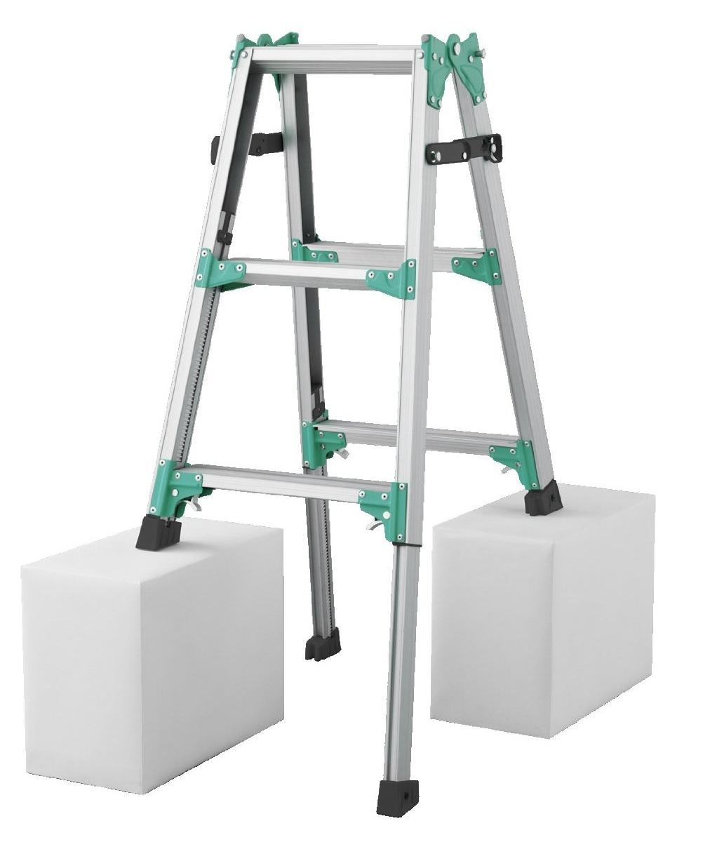 【メーカー直送にて送料無料(北海道は+3000円)】長谷川工業 RYZ-09bハセガワ hasegawa 伸縮脚立 はしご兼用脚立 脚の長さが調節できる♪ 天板高さ72cm~103cm【hat】※送り先が法人名に出来る方のみの販売となります。