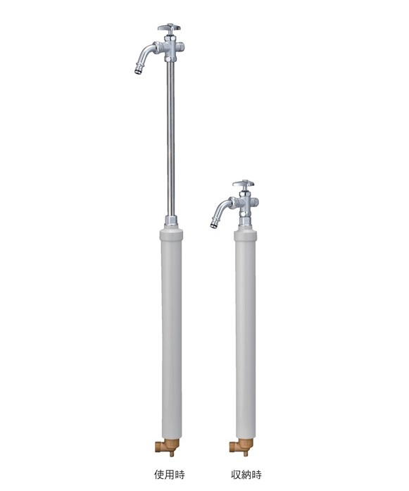 竹村製作所 不凍給水栓 D-EN3(伸縮式)D-EN3-1313060CP スタンダード