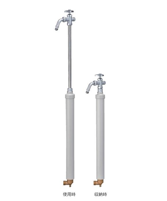 竹村製作所 不凍給水栓 D-EN3(伸縮式)D-EN3-1313040CPB 固定板付