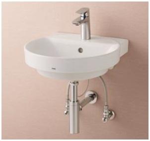 【地域により別途送料有】TOTO LSC704AAPNW 洗面器・立水栓セット 目皿仕様(目皿盗難防止仕様) 壁給水 壁排水