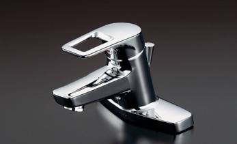 TOTO TL430 シングルレバー混合栓(湯側角度規制)ワンプッシュ式 ソフト 湯側角度規制