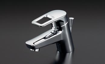 TOTO TL431 シングルレバー混合栓(湯側角度規制)ワンプッシュ式 ソフト フレキホース 湯側角度規制