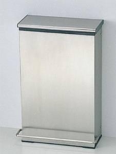 TOTO YKB103 チャームボックス(汚物入れ)330×171×500 容量:11L 本体: ステンレス製 中箱: 樹脂製 床置き固定・足踏み式