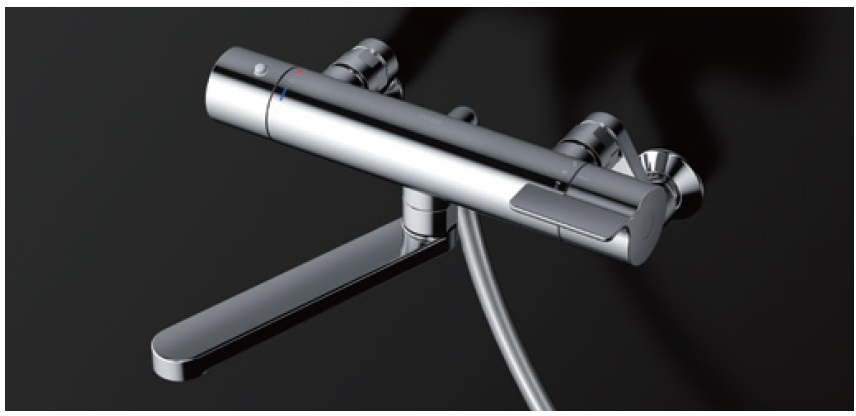 【送料無料】TOTO 壁付サーモスタット混合水栓 TBV03404J スパウト170mm メタル 逆止弁 本体・ホース接続ねじG1/2 コンフォートウェーブ3モードめっき ホース樹脂(シルバー) ハンガー 角度調節付※シャワーヘッド形状などは一覧を参