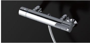 【送料無料】TOTO 壁付サーモスタット混合水栓 TBV03420J スパウト170mm コンフォートウエーブ3モードめっき メタル スパウトなし 高温出湯規制 逆止弁 本体・ホース接続ねじG1/2 ホース樹脂(メタル調) ハンガー 角度調節付※シ