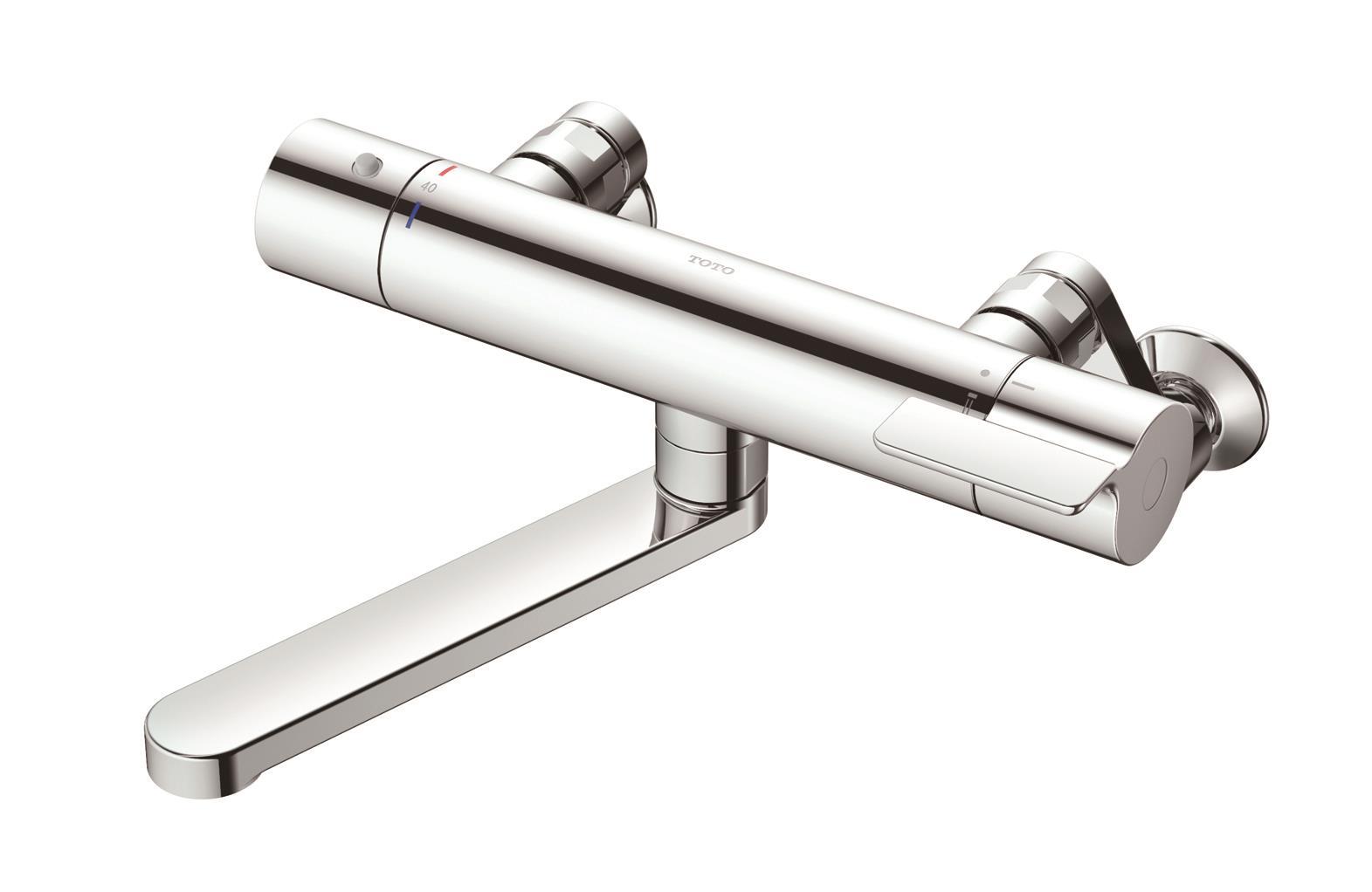 【送料無料】TOTO 壁付サーモスタット混合水栓 TBV03421Z メタル 洗い場専用 逆止弁本体・ホース接続ねじG1/2 シャワーヘッドは付いてません