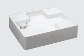 【送料無料】【メーカー直送】ブルズ・シナネン 洗濯機パン ベストレイ 床上配管タイプ USB-7464SNW 740×640(横引きトラップ付)【代引・他商品同梱不可】【北海道・九州不可】