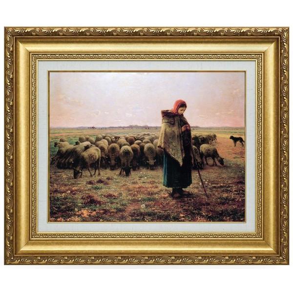 複製名画 ミレー 「羊飼いの少女」 美術品 レプリカ
