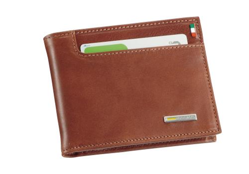 イタリア製レザー 二つ折り財布