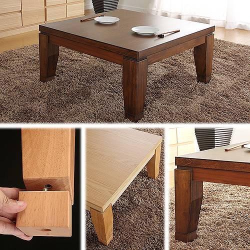 モダンリビングこたつ ディレット 80×80cmこたつ テーブル 正方形 日本製 国産継ぎ脚ローテーブルギフト 敬老の日