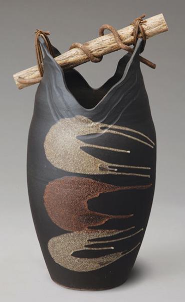 黒陶流し手桶陶器の傘立て(傘立て 傘たて かさ立て かさたて 陶器 信楽焼き) 送料込み 北欧 出産 結婚祝い おしゃれ 敬老の日 ギフト